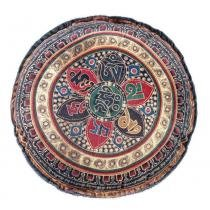 Almofada Redonda Mandala 01 - Colorido - Guga Tapetes