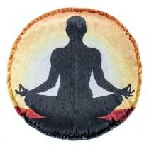 Almofada Redonda Yoga 01 - Colorido - Guga Tapetes