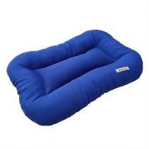 Almofada Retangular Lisa Para Cachorro 01 Azul Fábrica Pet -