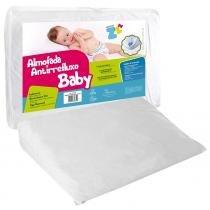 Almofada Travesseiro Fibrasca Antirefluxo Baby com Fronha Impermeável -