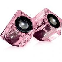 Alto falantes compactos Crystal Ice em formato de cubo DGUN-2527 Isound -