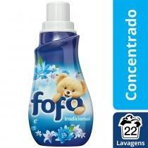 Amaciante de roupa concentrado fofo azul tradicional frasco 500 ml -