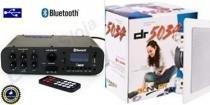 Amplificador ab100bt nca ( bluetooth ) + 1 par caixa gesso dr5034 - Nca