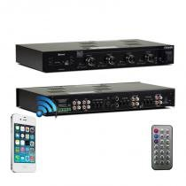 Amplificador receiver frahm slim 4500 480 wats rms com bluetooth 4 canais