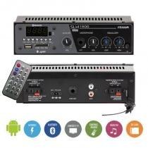 Amplificador receiver residêncial frahm slim 1500  bluetooth android -