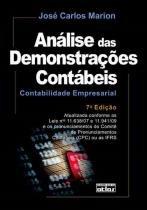 Analise das demonstracoes contabeis - 7ª edicao - Atlas exatas, humanas, soc (grupo gen)