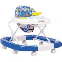 Andador Balanco 8 Rodas Regulavel Azul Styll Baby -