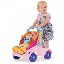 Andador Bebe Passeio Boneca Rosa Merco Toys - Merco Toys