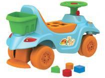 Andador de Empurrar Bandeirante - Primeiros Passos Baby com peças Geometricas e Baú