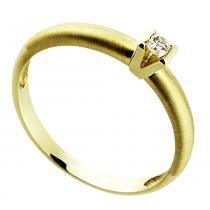 Anel Ouro Amarelo Solitário com Diamante 5 Pontos Premium - Ouro Amarelo - 18 - Rosana Joias