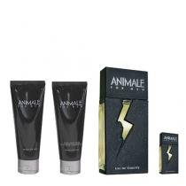Animale for Men Animale - Kit Perfume Masculino + Baume Pós-Barba + Gel de Banho + Miniatura - Animale