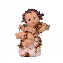 Anjinho de Resina com Instrumento Musical 12.5cm Angelical  Santini Christmas -