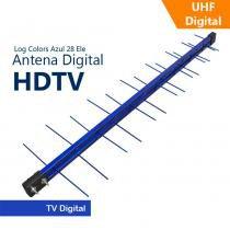 Antena Capte Banda Total Custom Log 14/28e 18dBi Azul - Capte