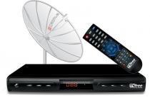 Antena parabólica 1,50 m diâmetro digital free - Cromus