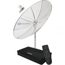 Antena Parabolica Cromus CR1500 1,50m, Multiponto c/receptor -