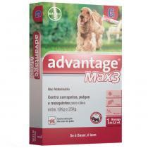 Anti Pulgas e Carrapatos Bayer Advantage MAX3 com 2,5 mL para Cães - de 10 kg a 25 kg - Bayer