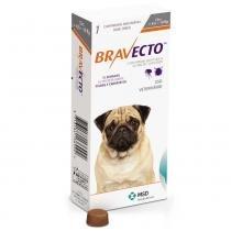 Anti Pulgas e Carrapatos Bravecto para Cães de 4,5 a 10 kg - 250 mg - 1 Comprimido - MSD Saúde Animal