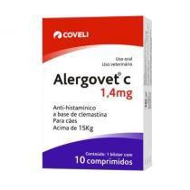 Antialérgico Coveli Alergovet C 1,4mg para Cães e Gatos -