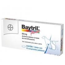 Antibiótico Baytril Flavour Bayer 50 mg 10 Comprimidos -
