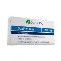 Antimicrobiano Ouro Fino Doxifin Tabs 06 Comprimidos  200 mg - 200 mg - Ouro fino pet