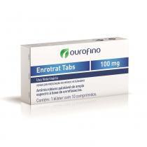 Antimicrobiano Ouro Fino Enrotrat Tabs de 10 Comprimidos - 100 mg - Ourofino