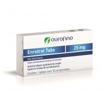 Antimicrobiano Ouro Fino Enrotrat Tabs de 10 Comprimidos - 25 mg - Ourofino