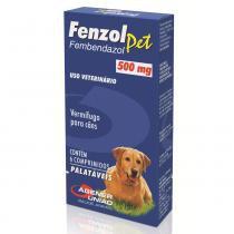 Antiparasitário / Vermífugos Fenzol Pet Agener União com 6 unidades 500 mg -