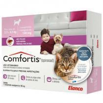 Antipulgas comfortis 140mg para cães de 2,3 a 4,5kg e gatos de 1,9 a 2,7kg - elanco - Elanco
