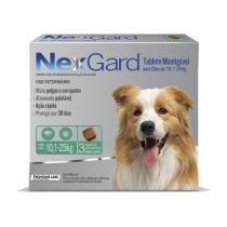 Antipulgas e Anticarrapatos NexGard para Cães de 10,1 a 25 Kg - 3 Tabletes - Merial