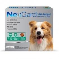 Antipulgas e Anticarrapatos NexGard para Cães de 10,1 a 25 Kg Merial