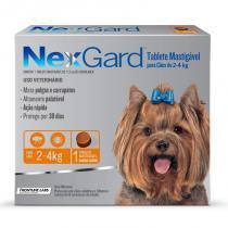 Antipulgas e Anticarrapatos NexGard para Cães de 2 a 4 Kg - 1 Tablete - Merial