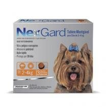 Antipulgas e Anticarrapatos NexGard para Cães de 2 a 4 Kg - 3 Tabletes - Merial