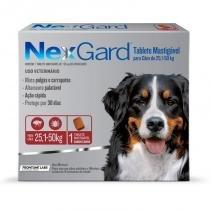 Antipulgas e Anticarrapatos NexGard para Cães de 25,1 a 50 Kg - 1 Tablete - Merial