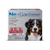 Antipulgas e Anticarrapatos NexGard para Cães de 25,1 a 50 Kg - 3 Tabletes - Merial