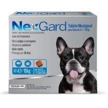Antipulgas e Anticarrapatos NexGard para Cães de 4,1 a 10 Kg - 1 Tablete - Merial