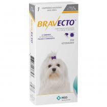 Antipulgas e carrapatos bravecto para caes de 2kg a 4,5kg (112,5mg) - msd saúde animal -