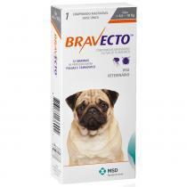 Antipulgas e carrapatos bravecto para caes de 4,5kg a 10kg (250mg) - msd saúde animal -