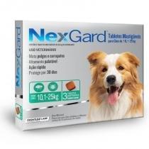 Antipulgas e carrapatos nexgard 68mg para caes de 10,1 a 25kg (3 tabletes) - merial -