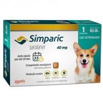 Antipulgas e carrapatos para cães simparic de 10,1 a 20kg - zoetis -