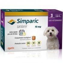 Antipulgas e carrapatos para cães simparic de 2,6 a 5kg (3 tabletes) - zoetis -