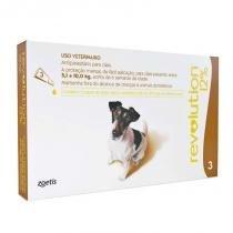 Antipulgas revolution para cães de 5,1kg a 10kg (3 tubos) - zoetis - Zoetis
