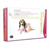 Antipulgas revolution para cães e gatos até 2,5kg (3 tubos) - zoetis - Zoetis