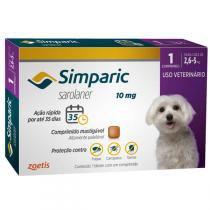 Antipulgas Zoetis Simparic 10 Mg Para Cães 2,6 a 5 Kg -