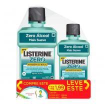 Antisséptico bucal listerine zero leve 500ml + 250ml -