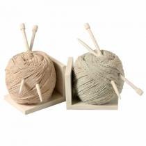 Aparador de livros de resina novelo de lã 1 peça - Maria pia casa