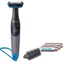 Aparador de pelos do corpo bg1025/15 preto e azul philips - Philips