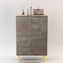 Aparador Unique Álamo Natural/Amarelo - Incolar móveis