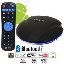 Aparelho Conversor Smart Box Tv 16Gb Android Infokit TVB-916G Ufo 4K 3D HD Bluetooth Wifi -