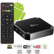 Aparelho Conversor Smart Box Tv Quad Core 16Gb X96 Mini 4K Android 7.1 3D HD Hdmi Usb Wifi - Fy
