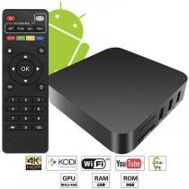 Aparelho Conversor Smart Box Tv Quad Core 8Gb 4K Android 7.1 Ott 3D Ultra HD Hdmi Usb Wifi - Fy